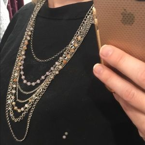 Maurices Multi Layered Necklace NWOT Silvertone